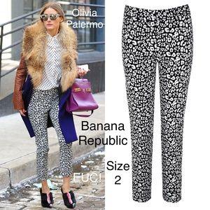 Banana Republic Sloan Leopard Pants 2